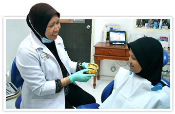 Dr. Halina with patient